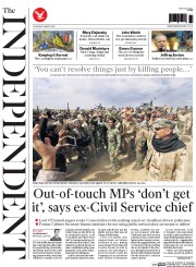 The Independent (UK) Newspaper Front Page for 5 March 2015