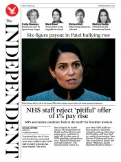 The Independent front page for 5 March 2021