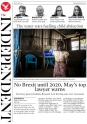 The Independent (UK) Newspaper Front Page for 5 April 2019