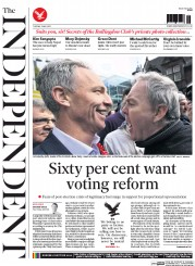 The Independent (UK) Newspaper Front Page for 5 May 2015