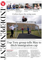 The Independent (UK) Newspaper Front Page for 5 May 2017