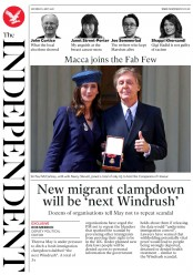 The Independent (UK) Newspaper Front Page for 5 May 2018