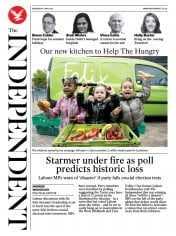 The Independent front page for 5 May 2021
