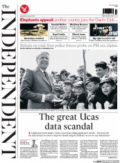 The Independent (UK) Newspaper Front Page for 5 August 2015