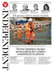 The Independent front page for 5 September 2020