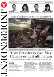 The Independent (UK) Newspaper Front Page for 6 October 2018