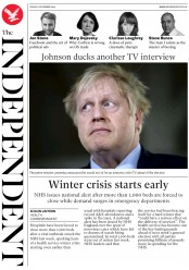 The Independent (UK) Newspaper Front Page for 6 December 2019