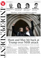 The Independent (UK) Newspaper Front Page for 6 February 2018
