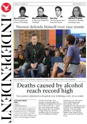 The Independent () Newspaper Front Page for 6 February 2019