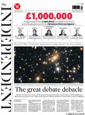 The Independent (UK) Newspaper Front Page for 6 March 2015