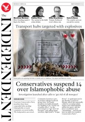 The Independent (UK) Newspaper Front Page for 6 March 2019