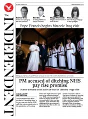 The Independent front page for 6 March 2021