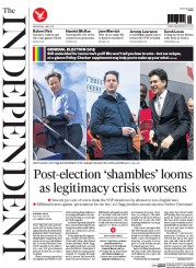The Independent (UK) Newspaper Front Page for 6 May 2015