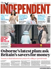 The Independent Newspaper Front Page (UK) for 6 June 2012