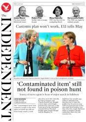 The Independent (UK) Newspaper Front Page for 6 July 2018