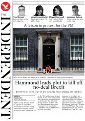 The Independent (UK) Newspaper Front Page for 6 July 2019