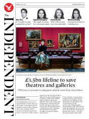 The Independent front page for 6 July 2020