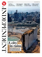 The Independent front page for 6 August 2020