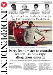 The Independent (UK) Newspaper Front Page for 7 November 2017