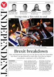 The Independent (UK) Newspaper Front Page for 7 December 2017