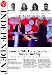 The Independent () Newspaper Front Page for 7 December 2019
