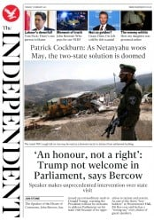The Independent (UK) Newspaper Front Page for 7 February 2017