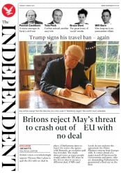 The Independent (UK) Newspaper Front Page for 7 March 2017