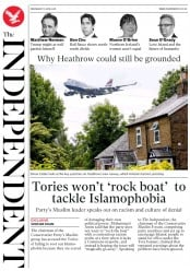 The Independent (UK) Newspaper Front Page for 7 June 2018