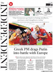 The Independent () Newspaper Front Page for 7 July 2015