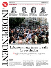 The Independent front page for 7 August 2020