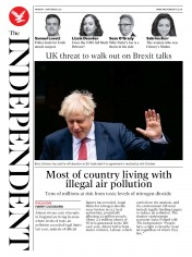 The Independent front page for 7 September 2020