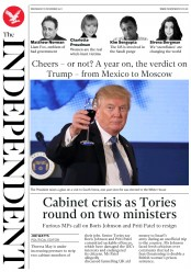 The Independent (UK) Newspaper Front Page for 8 November 2017