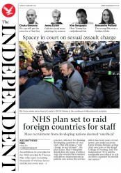 The Independent (UK) Newspaper Front Page for 8 January 2019