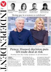 The Independent (UK) Newspaper Front Page for 8 February 2020