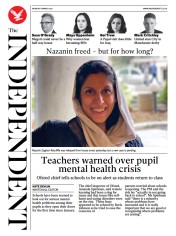 The Independent front page for 8 March 2021