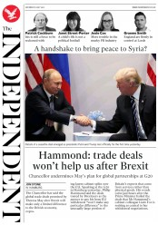 The Independent (UK) Newspaper Front Page for 8 July 2017