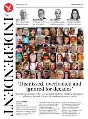The Independent front page for 8 July 2020