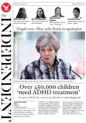 The Independent (UK) Newspaper Front Page for 8 August 2018