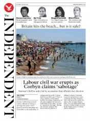 The Independent front page for 8 August 2020