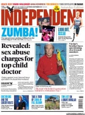 The Independent Newspaper Front Page (UK) for 8 September 2012