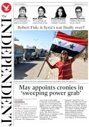 The Independent (UK) Newspaper Front Page for 8 September 2017