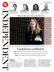 The Independent front page for 9 October 2020
