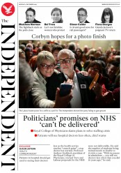 The Independent () Newspaper Front Page for 9 December 2019