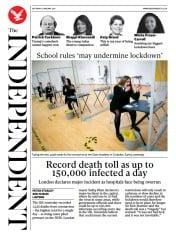 The Independent (UK) Newspaper Front Page for 9 January 2021