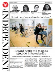 The Independent front page for 9 January 2021
