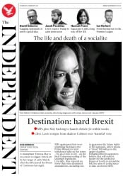 The Independent (UK) Newspaper Front Page for 9 February 2017