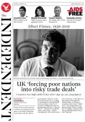 The Independent () Newspaper Front Page for 9 February 2019