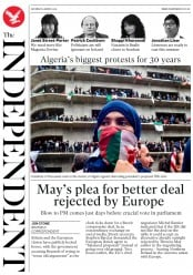 The Independent (UK) Newspaper Front Page for 9 March 2019