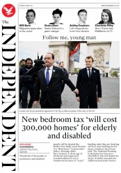 The Independent (UK) Newspaper Front Page for 9 May 2017