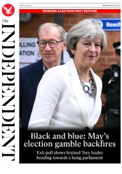 The Independent (UK) Newspaper Front Page for 9 June 2017